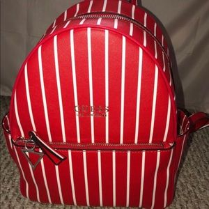 Red/White Guess Backpack